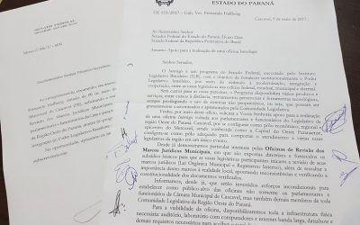 Vereadores solicitam ao Senador Alvaro Dias a realização de Oficina Interlegis em Cascavel