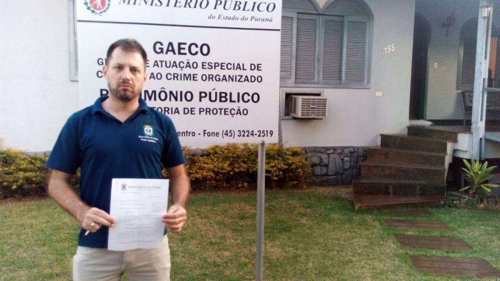 Hallberg protocola no Gaeco denúncia sobre licitação de impressoras