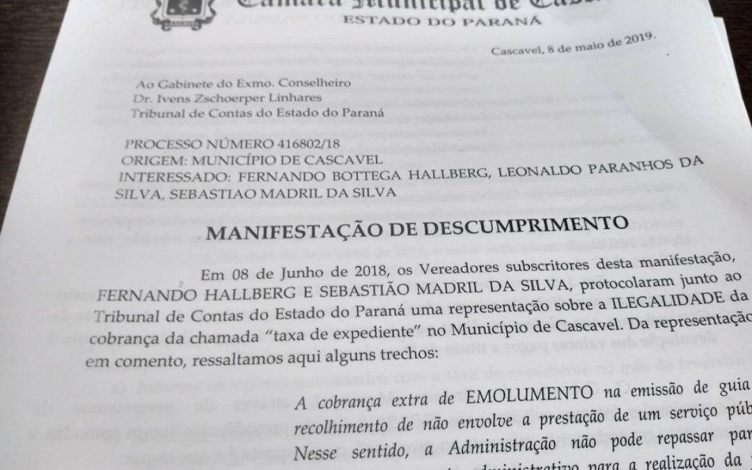"""""""Taxa de expediente deve ser de fato extinta e cascavelenses ressarcidos"""", defendem vereadores"""