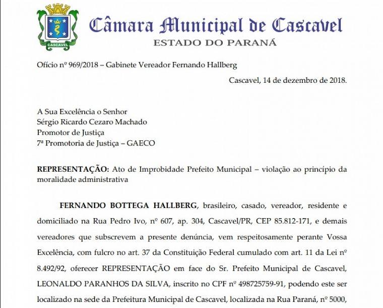 IPTU: vereadores denunciam prefeito por improbidade administrativa