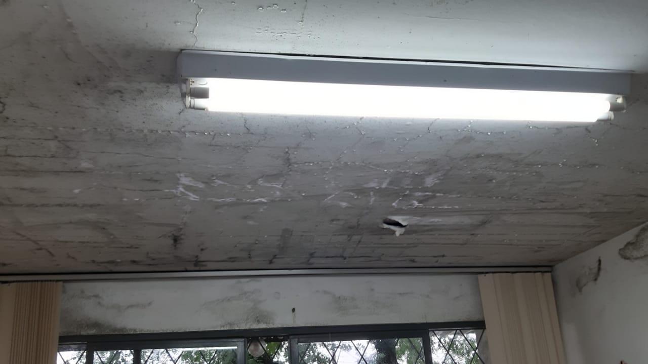 Ceacri está com seis salas com goteiras e mofo, algumas já foram interditadas