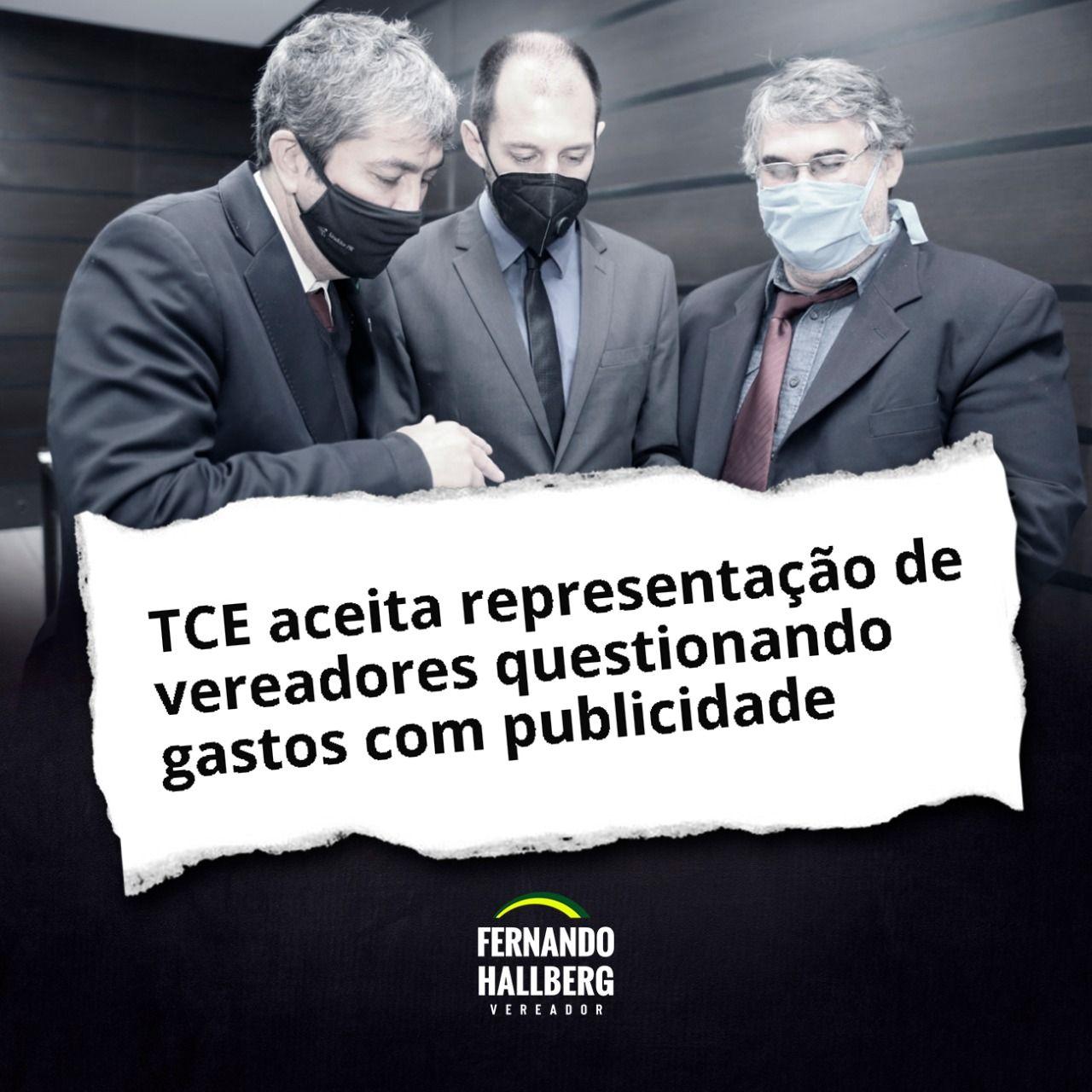 TCE aceita representação de vereadores questionando gastos com publicidade